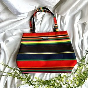 Kate Spade Vintage Colorful Rainbow Stripe Purse